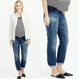 J. Crew Maternity Slim Broken In Boyfriend Jeans